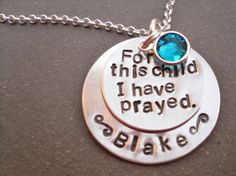 Beautiful sentiment, wonderful craftsmanship. WillowsByThePond necklace, $42