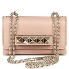 Valentino Va Va Voom Studded Leather Clutch