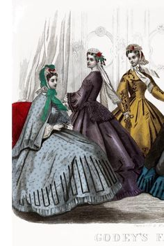 page from Godey's Lady's Book and Magazine, March 1864, viewable here: www.archive.org/...