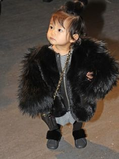Taking faux fur to new heights. Aila Wang.