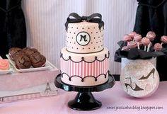 fashion cakes, cake tutorial, pink cakes, templat, birthdays, stripe, parti, paris birthday, birthday cakes