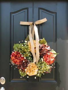Fall, Autumn Leaves, Fall Wreaths, Autumn Decor, Front Door Wreaths, Holidays, Oktoberfest, Harvest. $85.00, via Etsy.