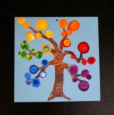that artist woman: Colour Wheel Trees