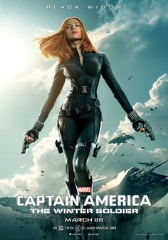 New Captain America: The Winter Soldier Character Poster Black Widow