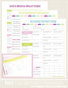 Pinch A Little Save-A-Lot: Free: Car Emergency Printables