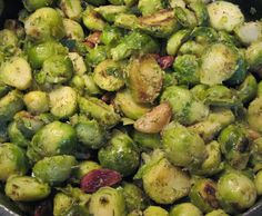 Recipe for Brussels Sprouts with Roasted Garlic & Horseradish
