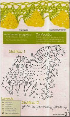 Barrado De Croche Modelo Abacaxi Com Receitas
