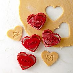 Valentine's Day Conversation Heart Cookie Cutters | Williams-Sonoma