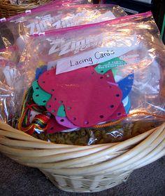 ideas for preschool/toddler activity bags