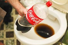 Cleaning your toilet with coca cola will get out the nastiest stains! I had my cousin try it when they bought a house and the toilets were disgusting, this trick left the toilets looking like new!