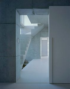 Minimalist staircase; u house.