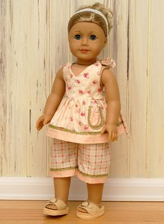"""Peaches and Cream-Made to fit 18"""" American Girl Doll."""