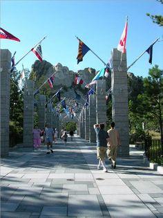 Entrance to Mount Rushmore-South Dakota