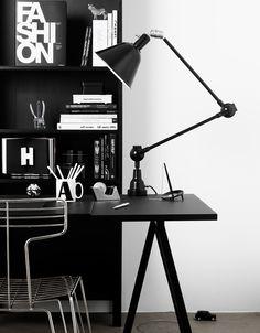 Black office.