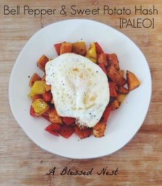 Bell pepper + sweet potato hash
