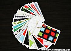 fabric swatch cards. good idea!