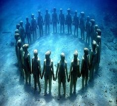One if the coolest museums you will ever explore...underwater! between Cancun and Isla Mujeres.