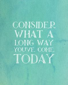 """""""A long way"""".. 