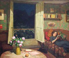 """T. F. Simon, """"Vilma Reading a Book"""", 1912"""