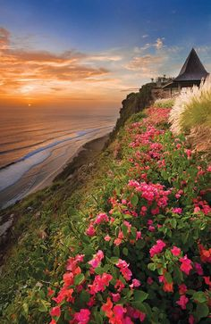 traditional design, ocean views, beach houses, sunset, dream vacations, bali indonesia, fresh flowers, amazing nature, place