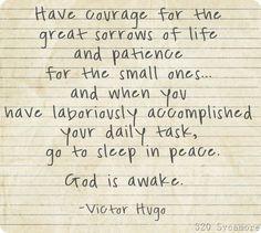 God is awake.