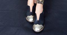 Billy Jean Black & Gold Oxfords    ImeldaShoes