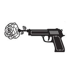 Tatouage revolver rose
