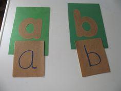 Homemade Montessori Sandpaper Letters