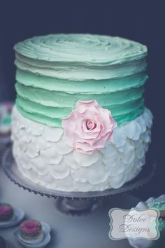 Mint and Pink Dessert Table via Kara's Party Ideas   Kara'sPartyIdeas.com #Wedding #Dessert #Table #Planning #Idea (23)