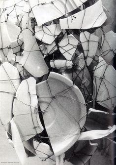 Wire and broken plate pieces, Maison Martin Margiela Fall 1989