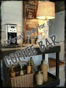My friend Rachel's blog.. Awesome country styling home ideas and more!!! Looking at these coffee bar areas!