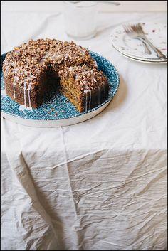 Pumpkin Hazelnut Coffee Cake