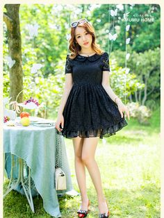 love picnic crochet lace dress $48 #asianicandy