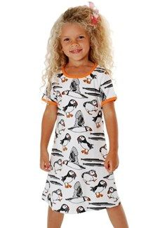 Duns s/s dress - Puffin bird