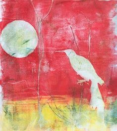 printmaking without a press with Linda Germain: Gelatin Prints on Cotton Fabric