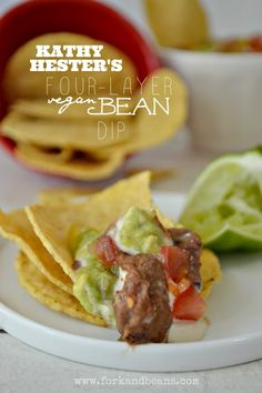 Try not to drool at the sight of this Four-Layer Vegan Bean Dip.