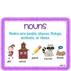 All About Nouns!  Centers, sorts and activities for nouns!  This unit includes posters, sorts and activities all about singular and plural nouns. This unit also meets Common Core Language standards in grades...