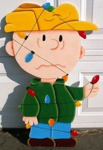 Charlie brown Christmas Yard Display...3 feet tall | So cute for outdoor decorating.