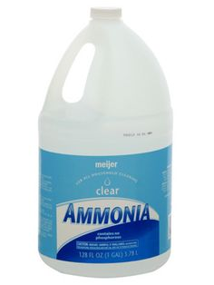Uses for ammonia (click for instructions): clean jewelry, clean grease from stove burners, remove dirt from white shoes, lift carpet stains, wash tile floors, shine crystal, remove sweat stains from clothes, clean hairbrushes.