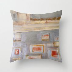 PiLLOW COVER  abstract painting  contemporary by linneaheideart, $40.00