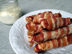 Healthy living low carb turkey Bacon Wrapped Chicken Breast ---EASY husband pleasing dinner!