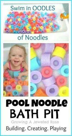 Pool Noodle Bath Pit