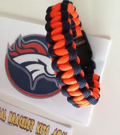 Denver Broncos paracord bracelet Get one ready made or make your own all the info on our web site and survivalbraceletkits.com