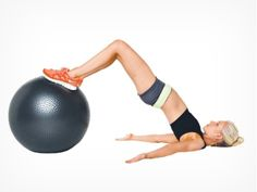 The humble Swiss ball is the perfect tool for sculpting a sexy stomach.  #Fitball_abs_workout