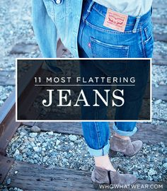 11 pairs of flattering jeans for a long and sleek look. #Denim