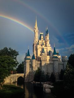 Incredible double rainbow that filled the sky at Magic Kingdom Park! #Disney #Beautiful