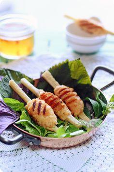 Chao Tom - Vietnamese Grilled Shrimp on Sugarcane
