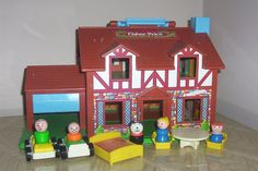 Fisher Price little people house. Used the house for numerous toys later on: #playmobil and even #starwars!!!