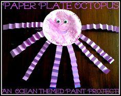 House of Burke: Paper Plate Ocean Creatures