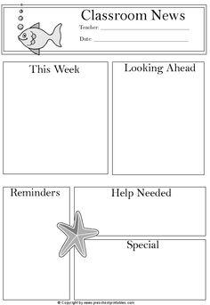 Newsletter Idea